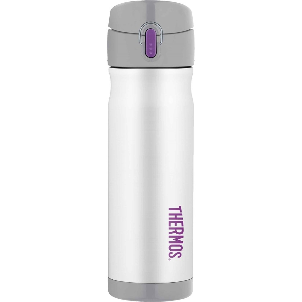 Thermos Commuter Bottle 470ml Stainless Steel Vacuum Insulated White