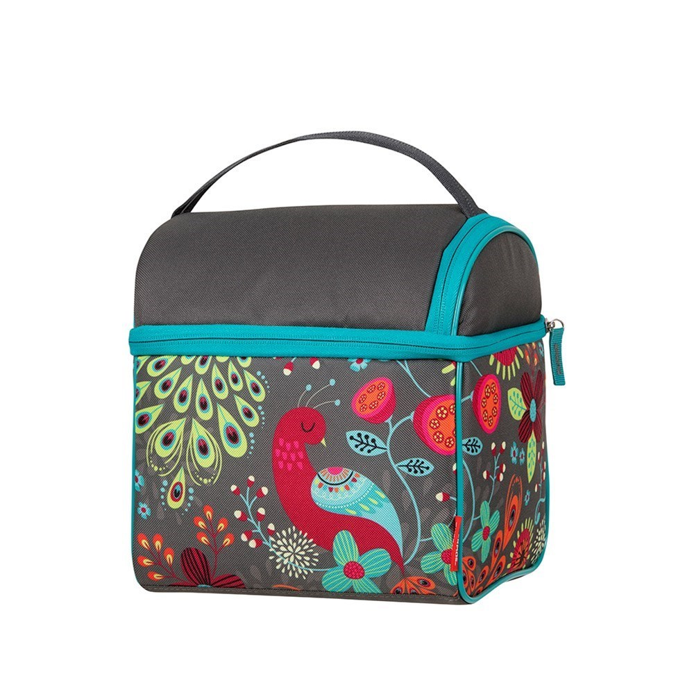 Thermos Raya Polyester Double Pack-In Lunch Bag 23 x 18 x 23cm Colourful Peacock