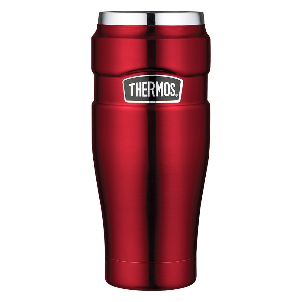 Thermos Stainless King 470ml Stainless Steel Vacuum Insulated Tumbler Red