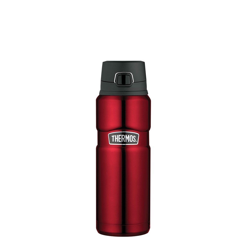 Thermos 710ml Stainless King Stainless Steel Vacuum Insulated Bottle with Flip Lid Red