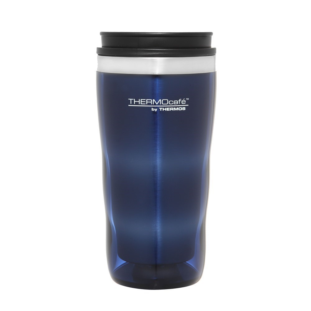 Thermos Stainless Steel Inner, Plastic Outer Travel Tumbler Blue 470ml