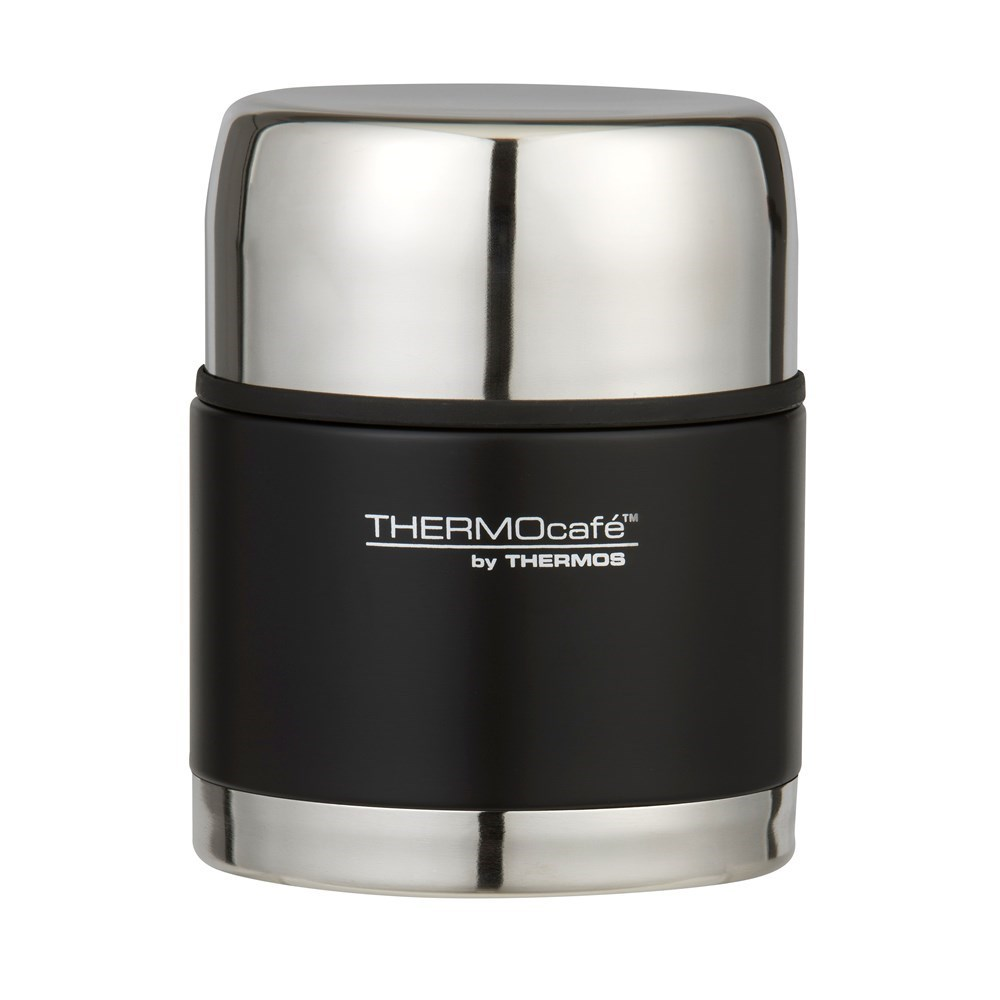Thermos THERMOcafe Stainless Steel Food Jar Matte Black 500ml