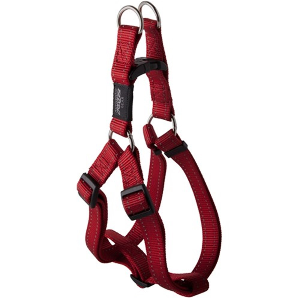 Rogz Utility Fanbelt Step-In Dog Harness Red Large