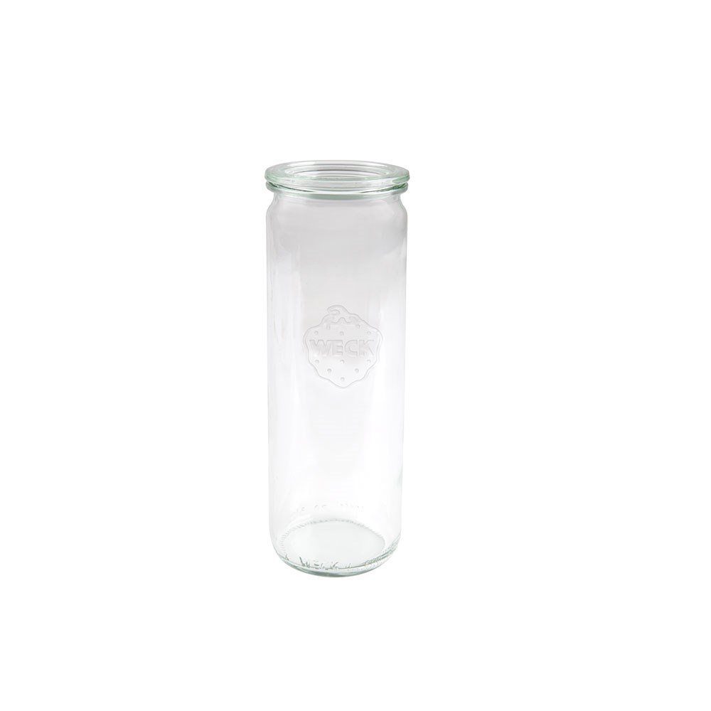 Weck Cylinder Glass Jar with Lid 600ml 60x210mm - MIN ORDER QTY OF 6