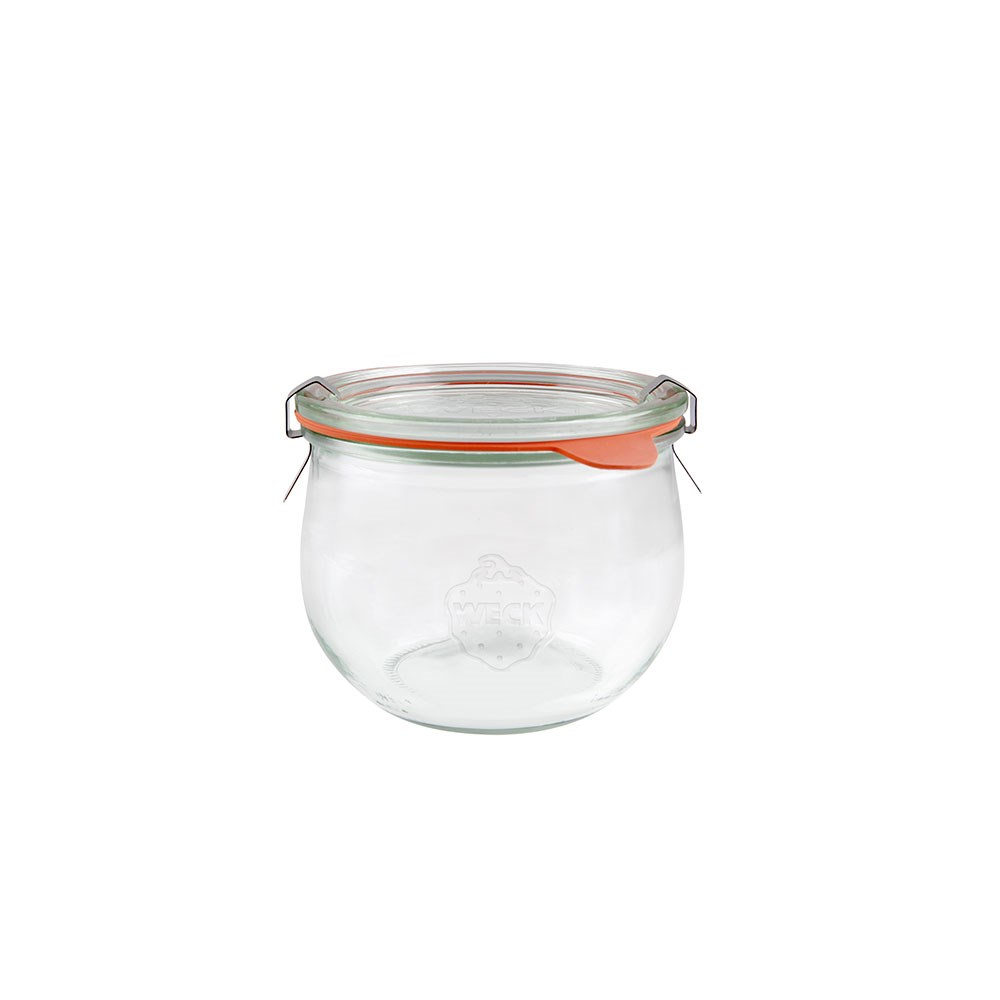 Weck Complete Glass Jar with Lid and Seal 580ml 100x85mm - MIN ORDER QTY OF 6