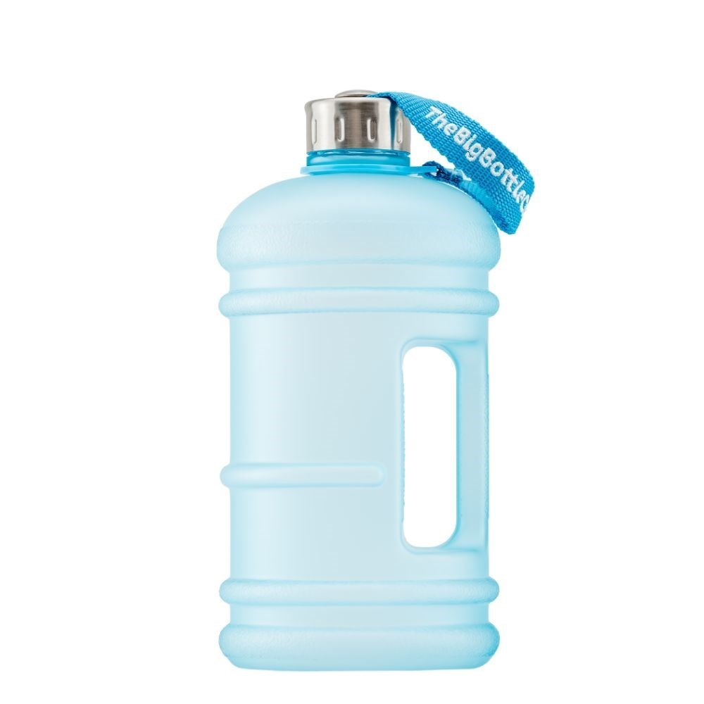 The Big Bottle Co Plastic Water Bottle 1.5L Frosted Aqua