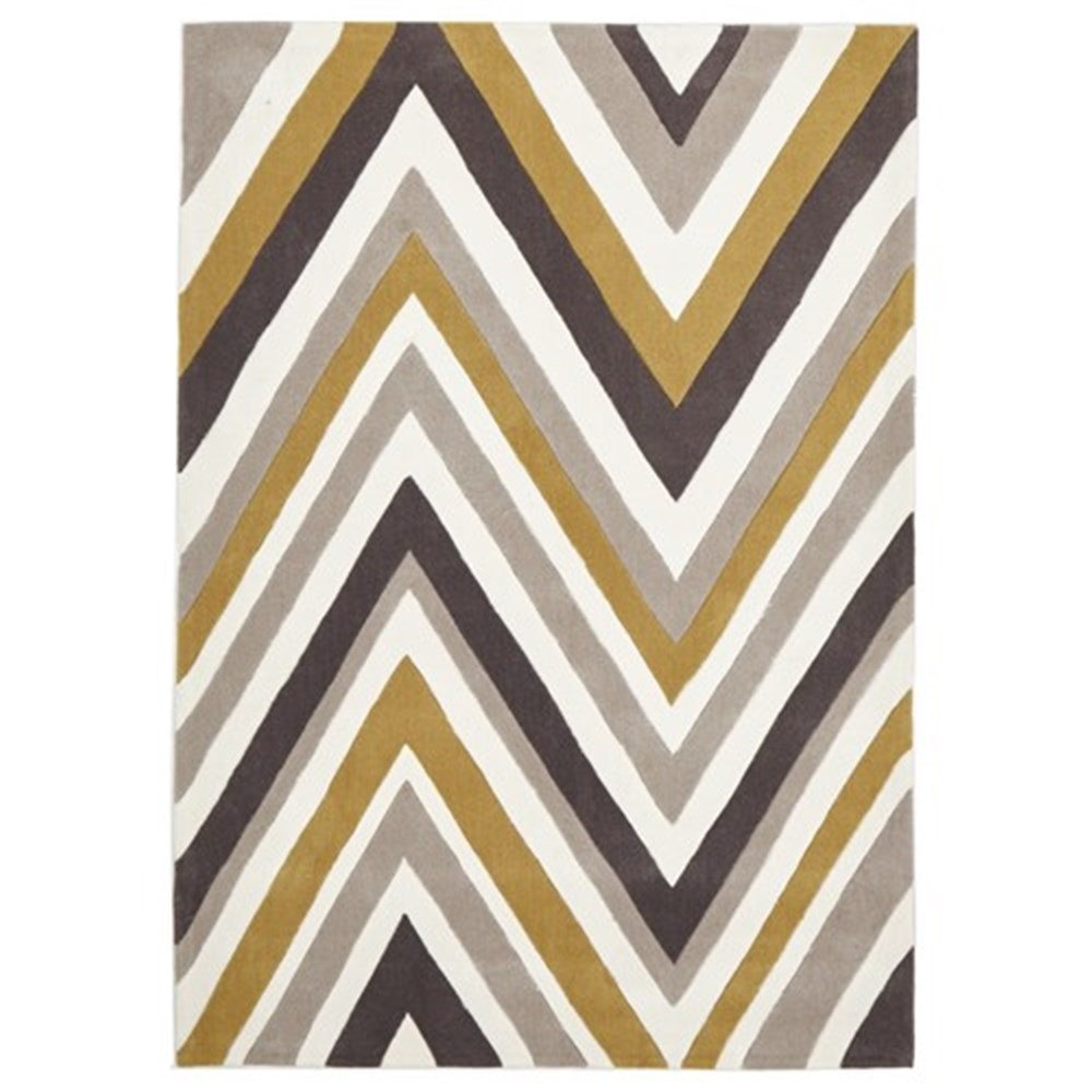 Rug Culture Chevron Yellow & Brown Rug 225 x 155cm