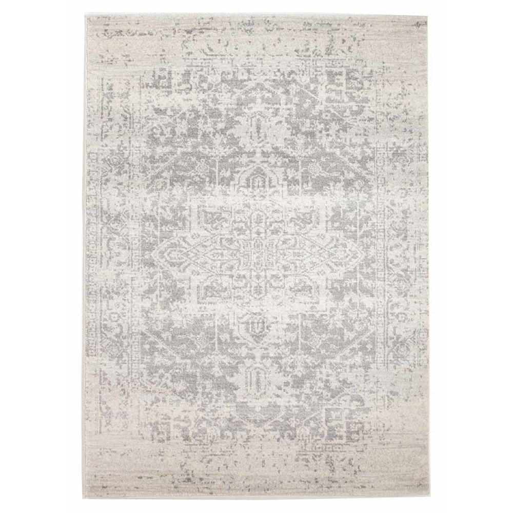Rug Culture Dream White Silver Transitional Rug 330 x 240cm