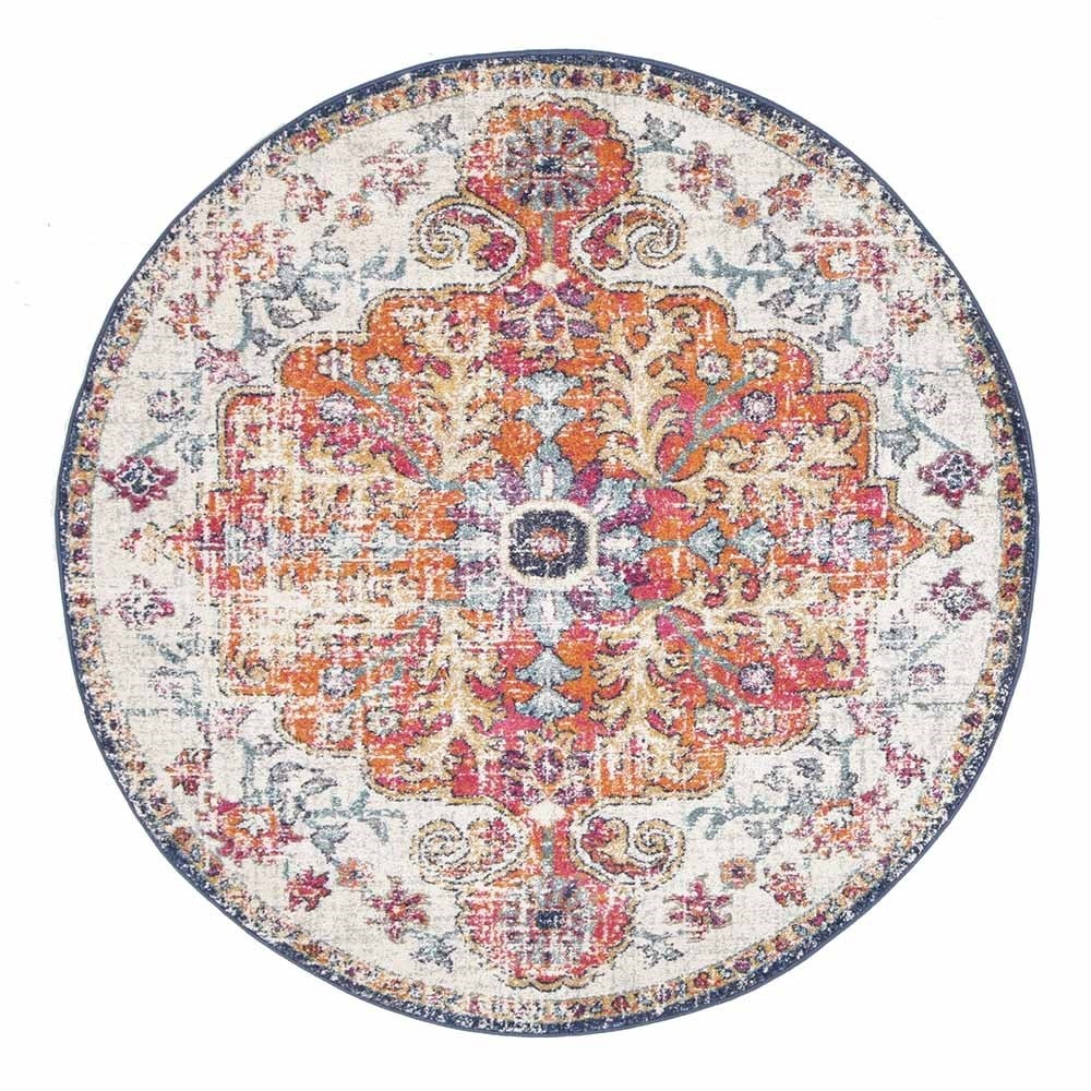 Rug Culture Carnival White Transitional Rug 150 x 150cm