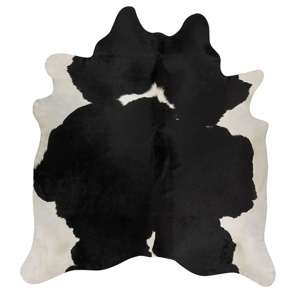 Rug Culture Exquisite Natural Cow Hide Black White Rug 170 x 180cm