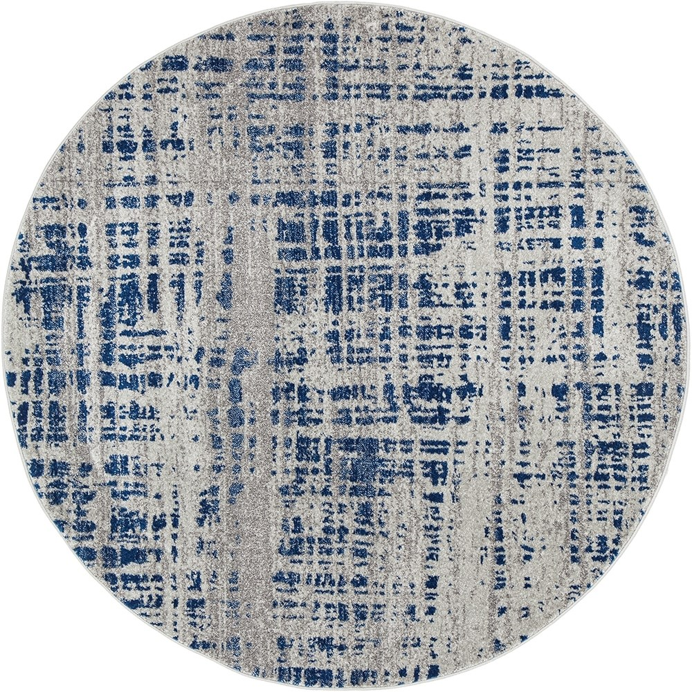 Rug Culture Ashley Abstract Modern Rug Blue Grey 240X240cm