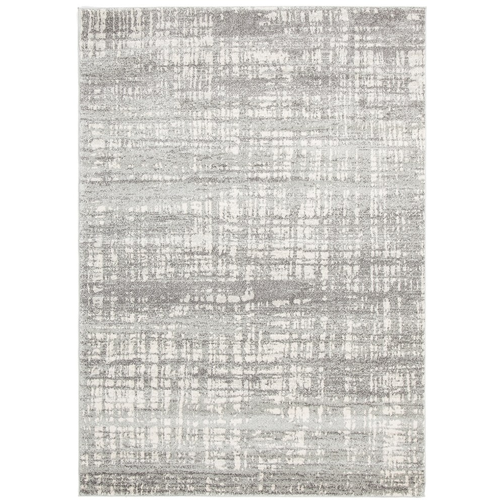 Rug Culture Ashley Abstract Modern Rug Silver Grey 500X80cm