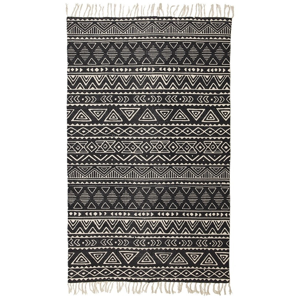 Rug Culture Totemic Throng Black Rug 220X150cm