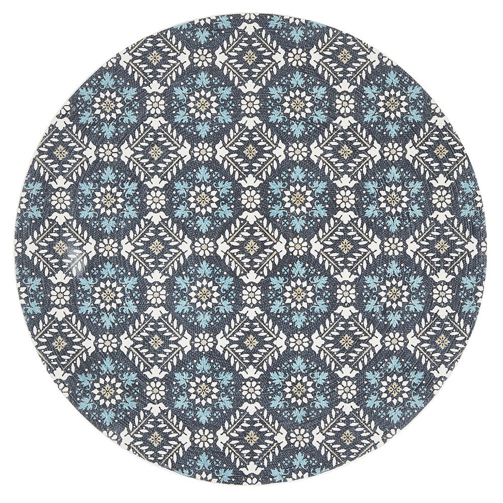 Rug Culture Lunar Tile Rug Blue 150 x 150