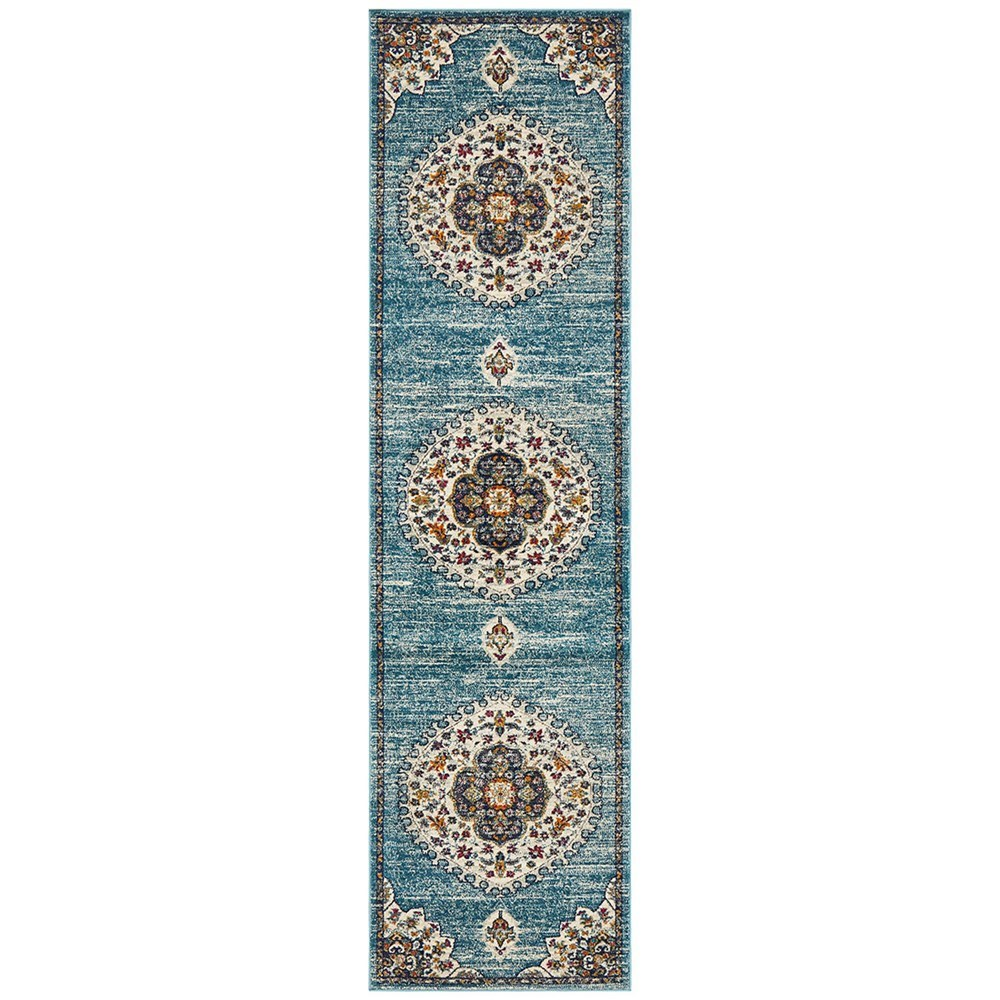Rug Culture Babylon Oriental Rug Blue Runner 400x80