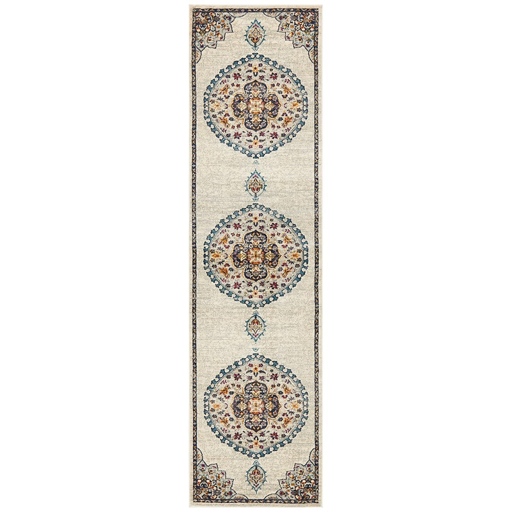 Rug Culture Babylon Oriental Rug White Runner 400x80
