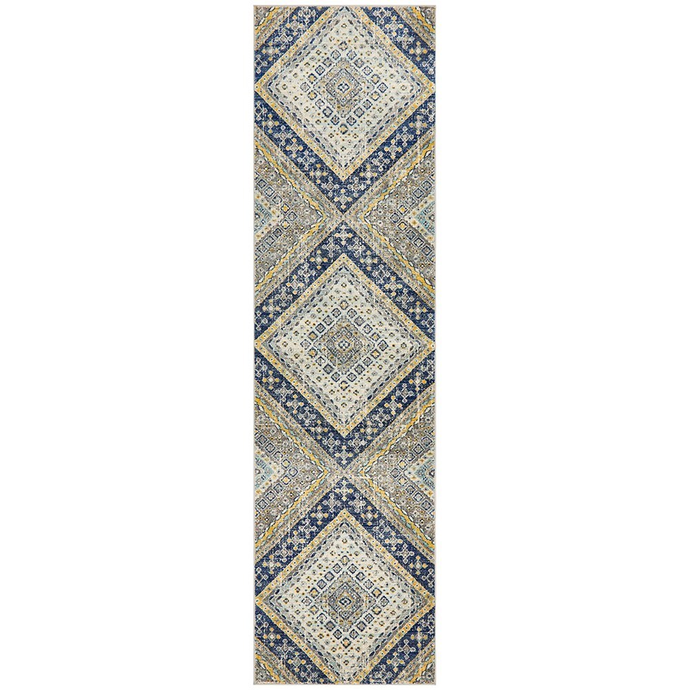Rug Culture Babylon Oriental Rug Navy Runner 400x80