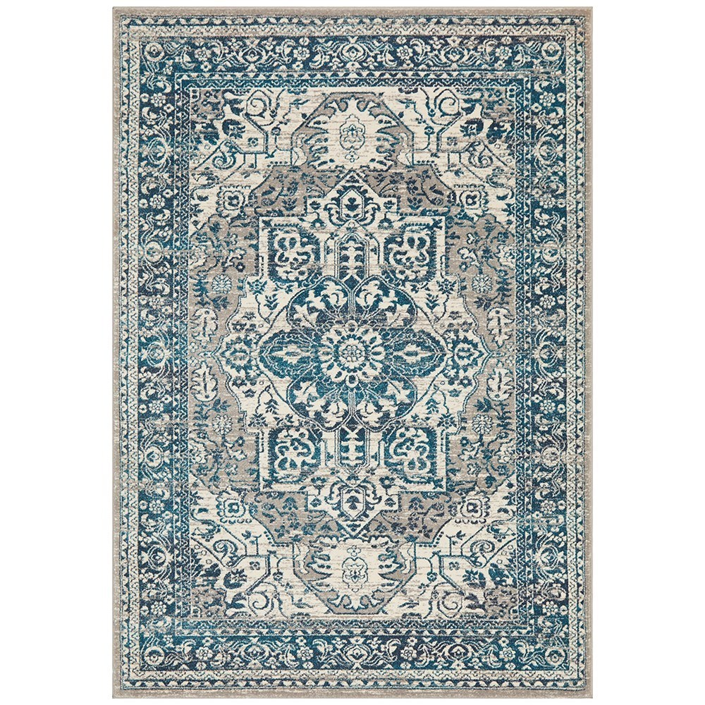 Rug Culture Babylon Traditional Oriental Rug Blue 230x160