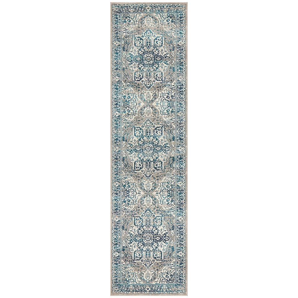 Rug Culture Babylon Traditional Oriental Rug Blue Runner 400x80