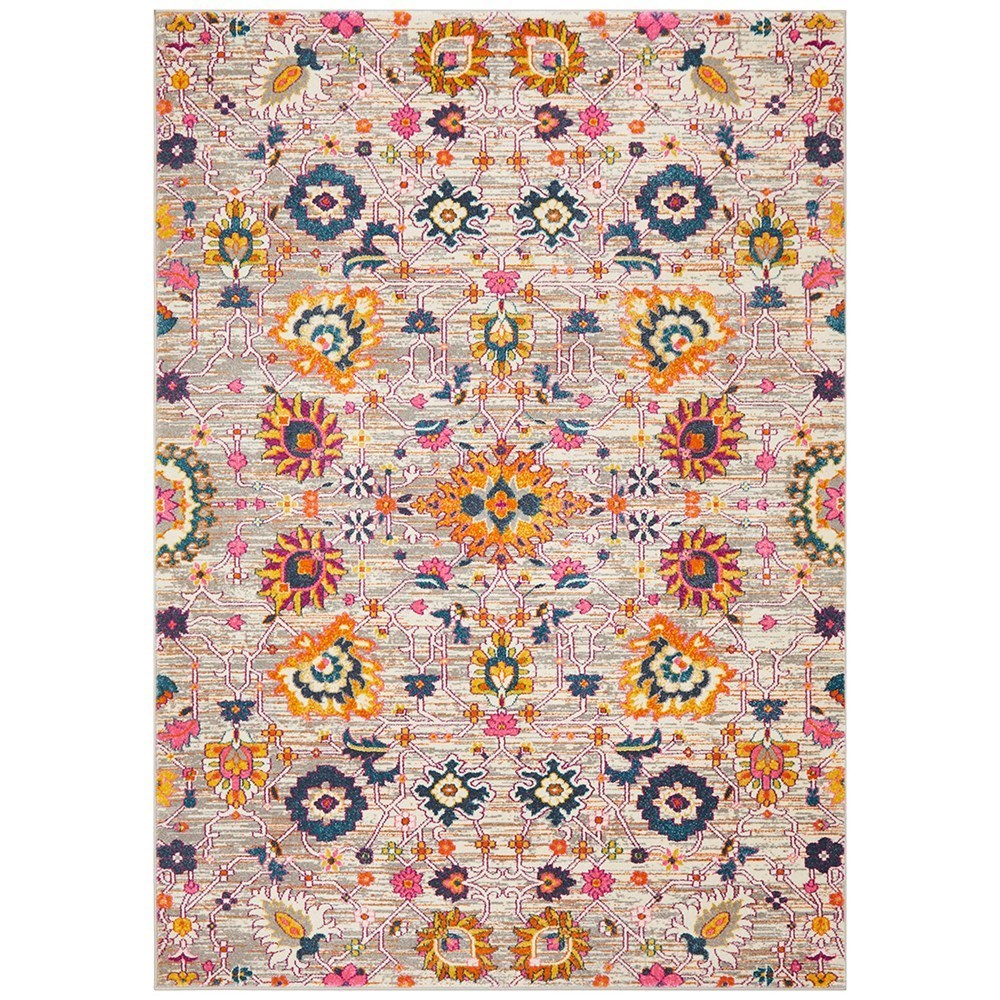 Rug Culture Babylon Paisley Flower Oriental Rug Orange 290x200