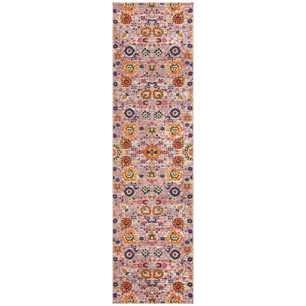 Rug Culture Babylon Paisley Flower Oriental Rug Orange Runner 400x80