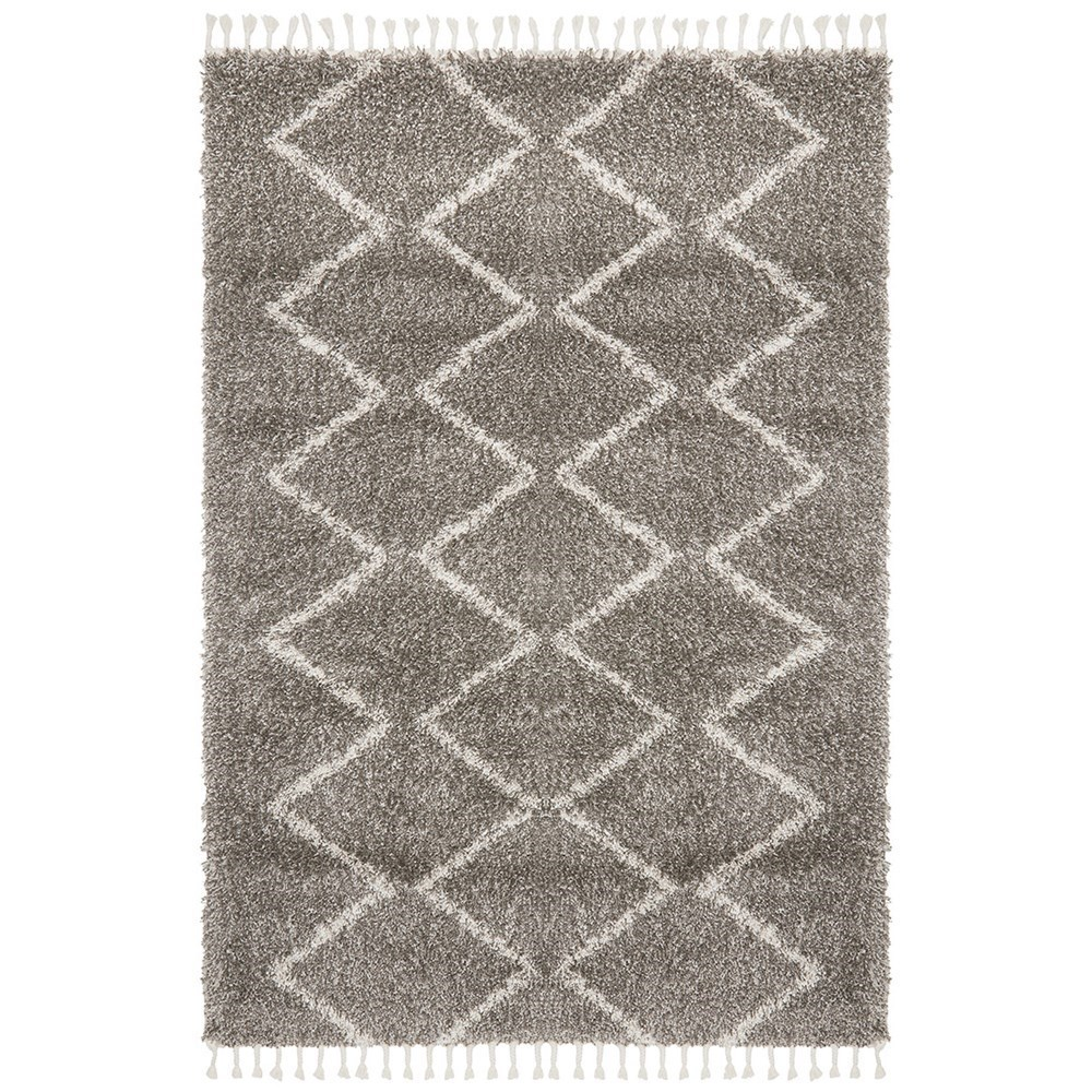 Rug Culture Saffron Plush Tassel Rug Grey 290x200