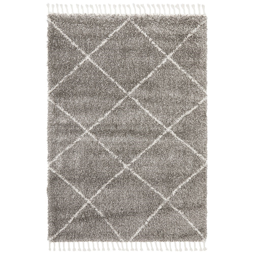 Rug Culture Saffron Plush Diamond Rug Grey 170x120