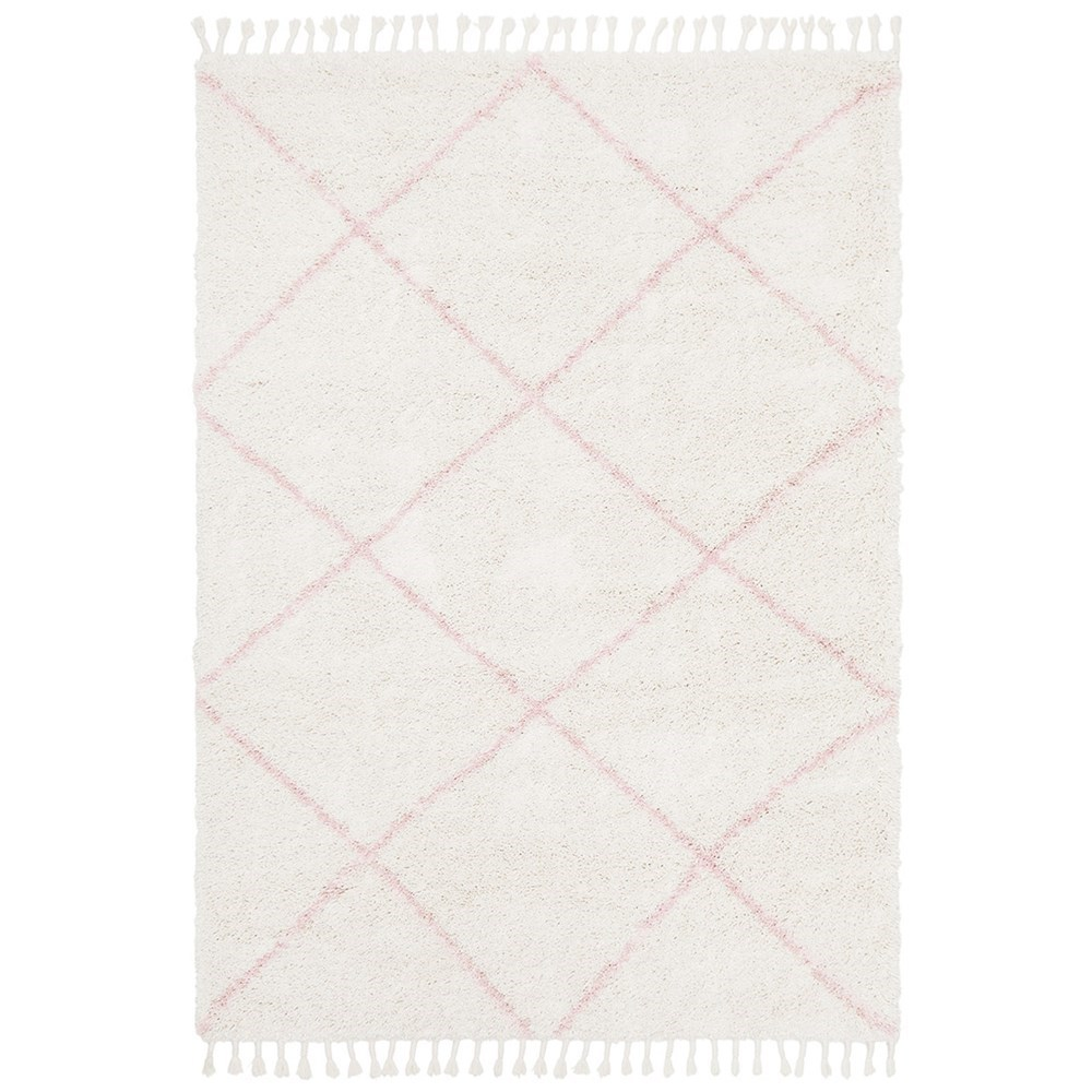 Rug Culture Saffron Plush Diamond Rug Pink 170x120