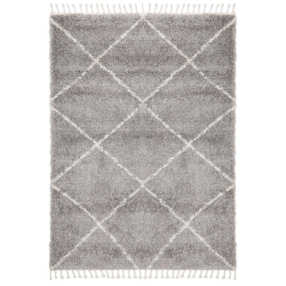 Rug Culture Saffron Plush Diamond Rug Silver 230x160