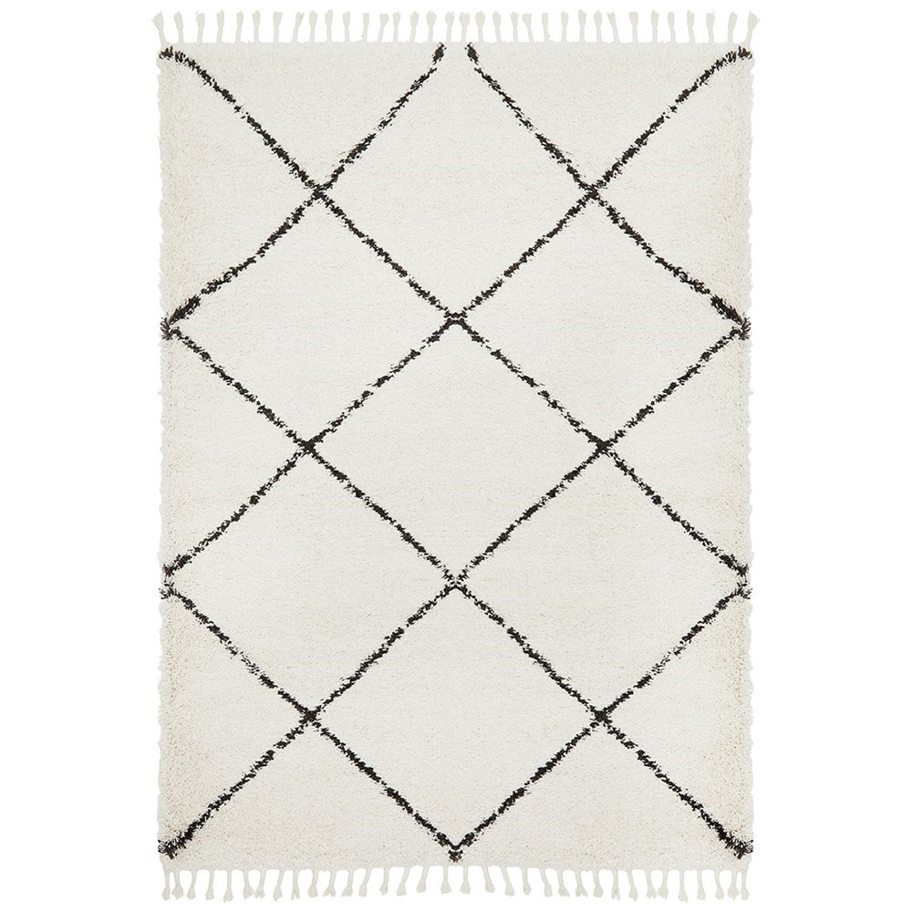 Rug Culture Saffron Plush Diamond Rug White 290x200
