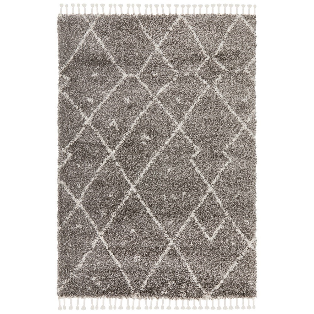 Rug Culture Saffron Plush Abstract Rug Grey 170x120
