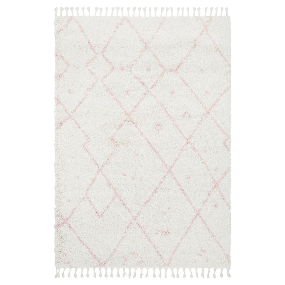 Rug Culture Saffron Plush Abstract Rug Pink 170x120