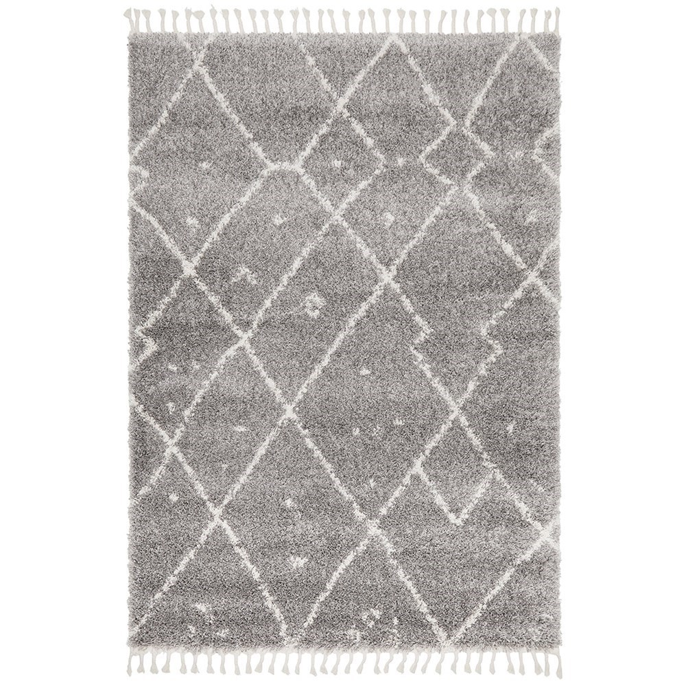Rug Culture Saffron Plush Abstract Rug Silver 230x160