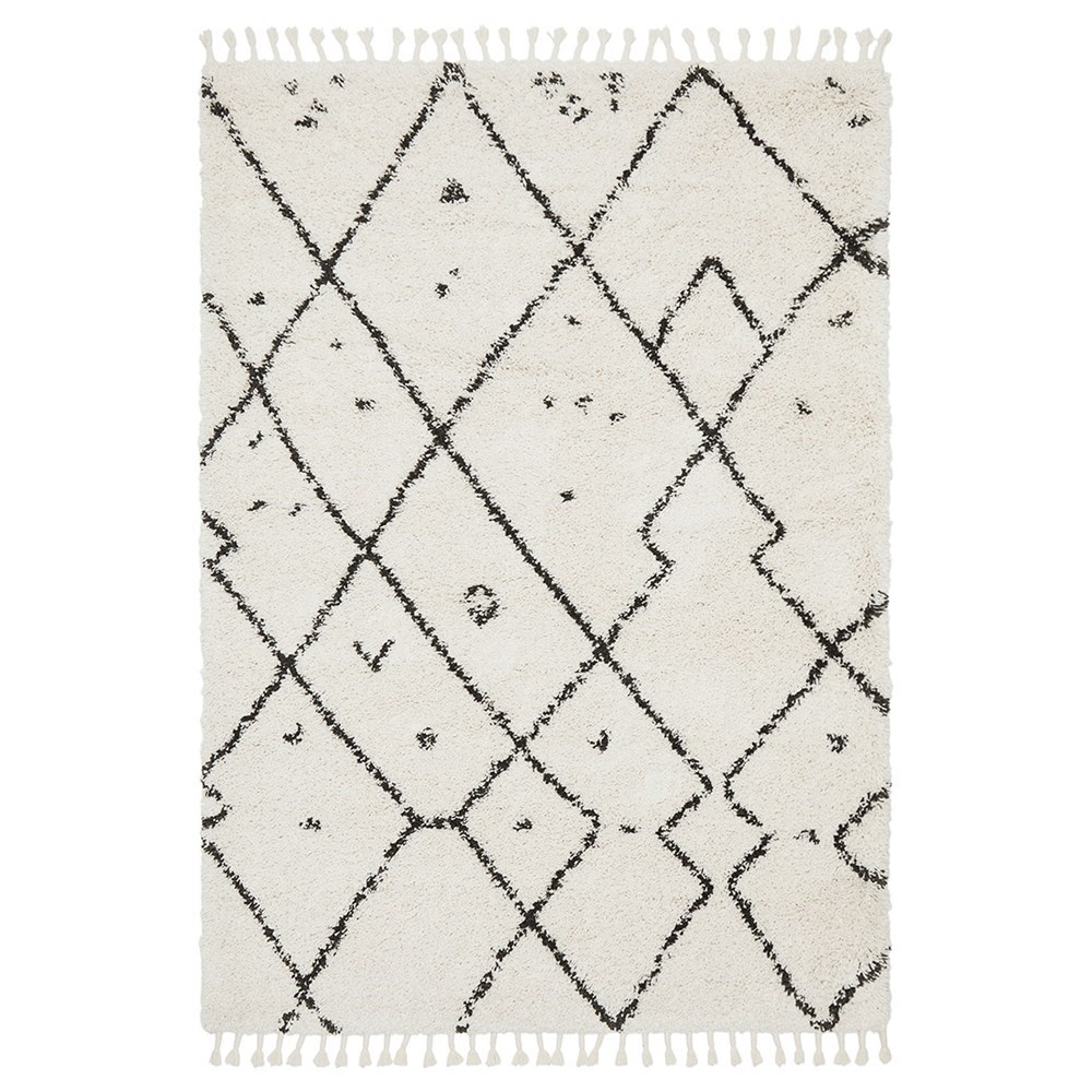 Rug Culture Saffron Plush Abstract Rug White 170x120