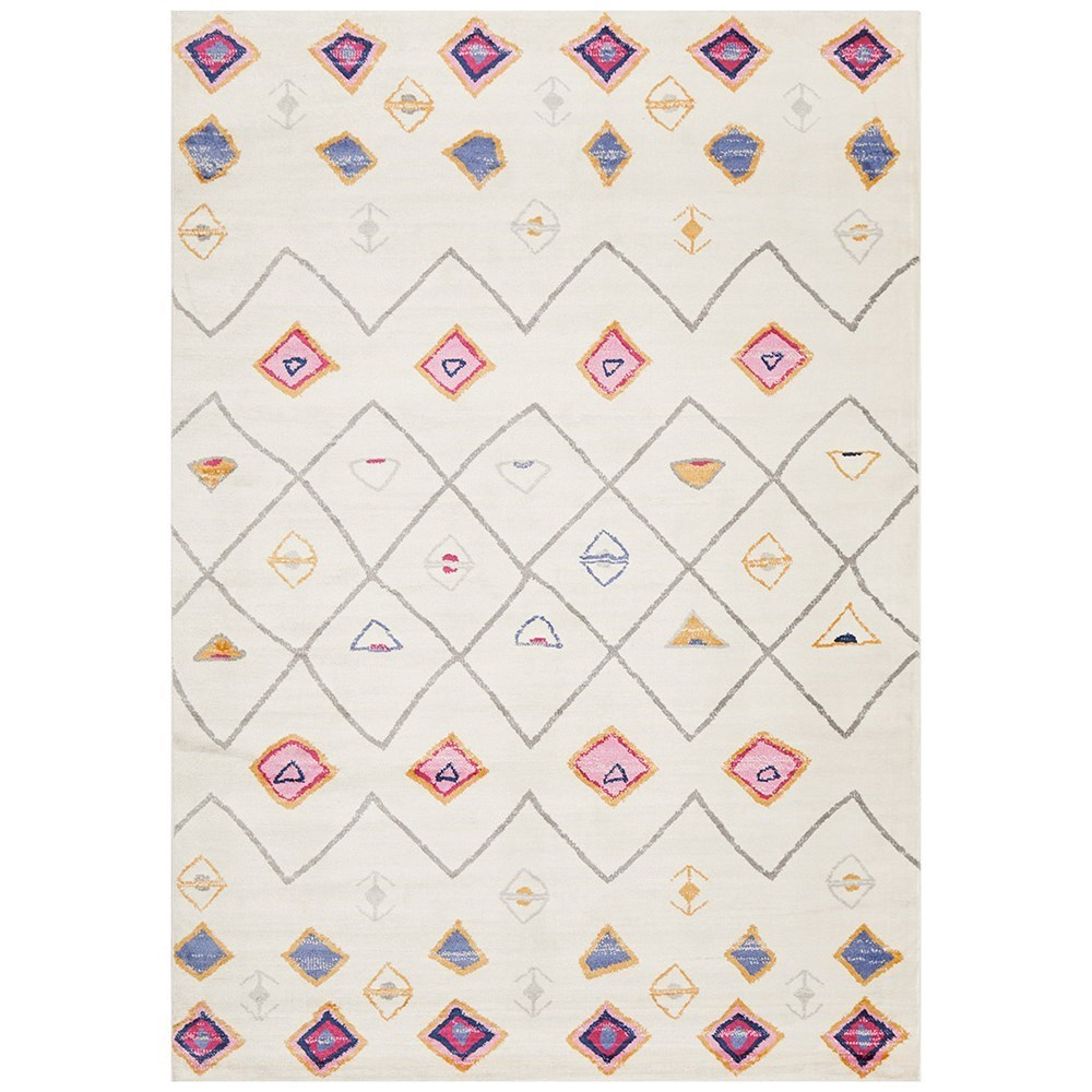 Rug Culture Zanzibar Abstract Aztec Rug White 280x180