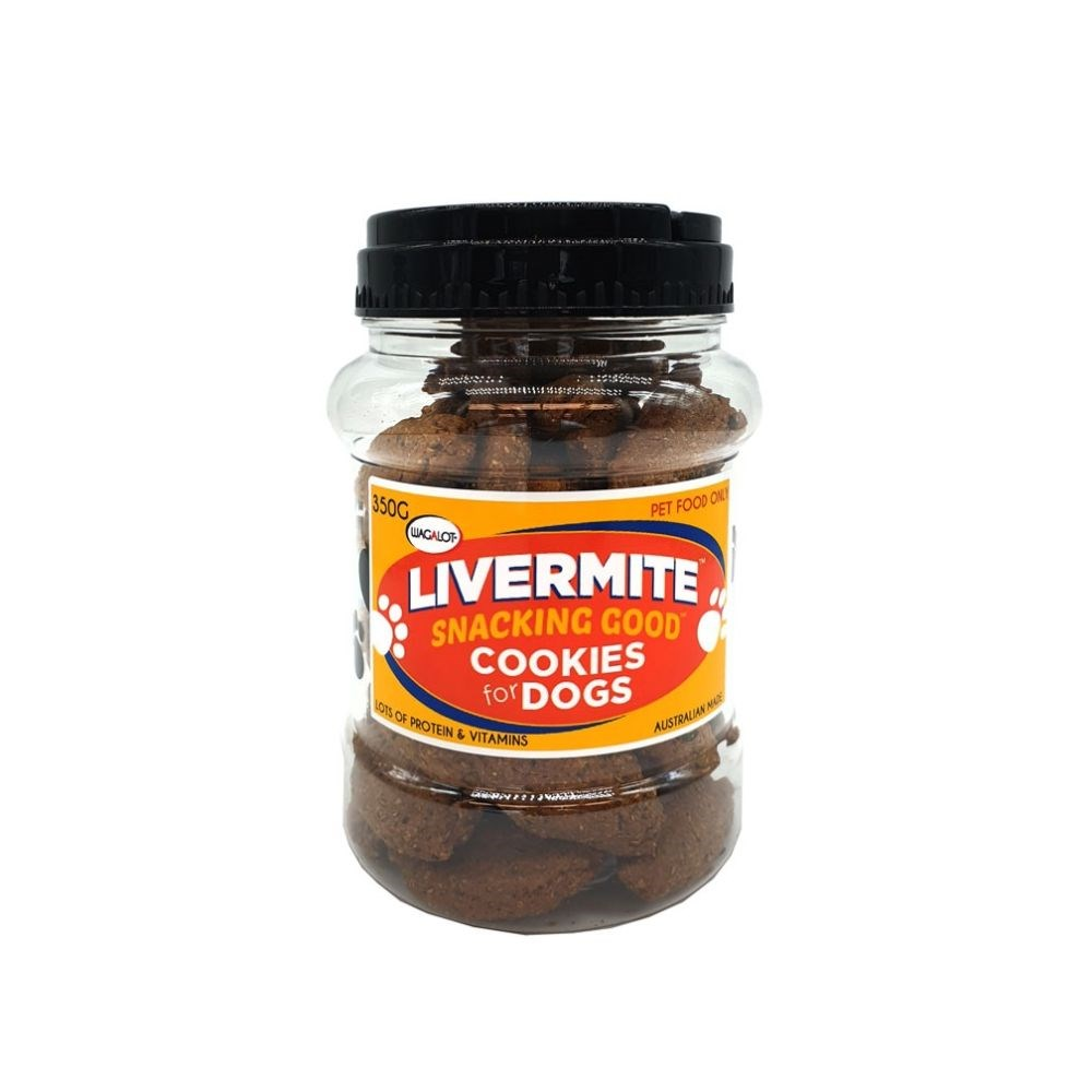 Wagalot Livermite Cookies Jar Dog Treat 350g