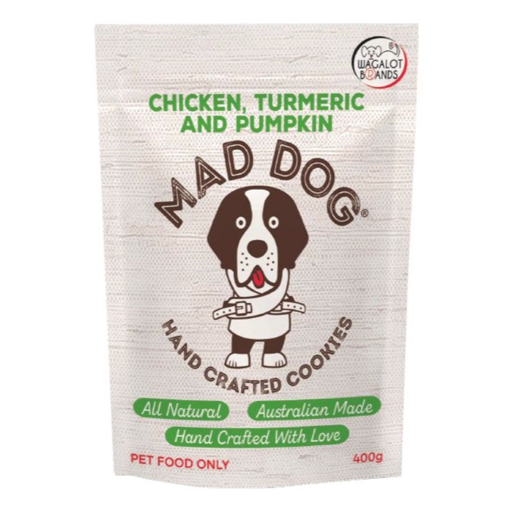 Wagalot Chicken, Pumpkin & Turmeric Cookie Dog Treat 400g