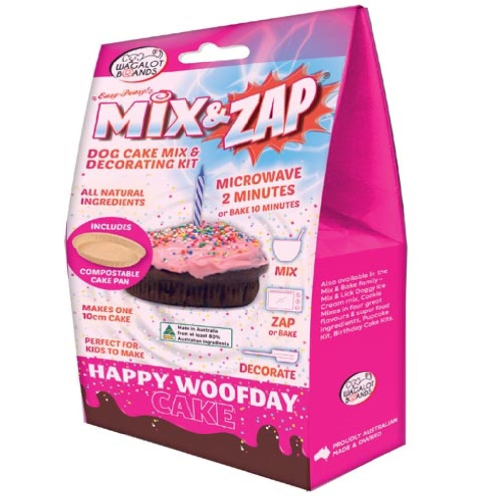 Wagalot Mix & Zap Happy Woofday Cake Kit Pink Dog Treat