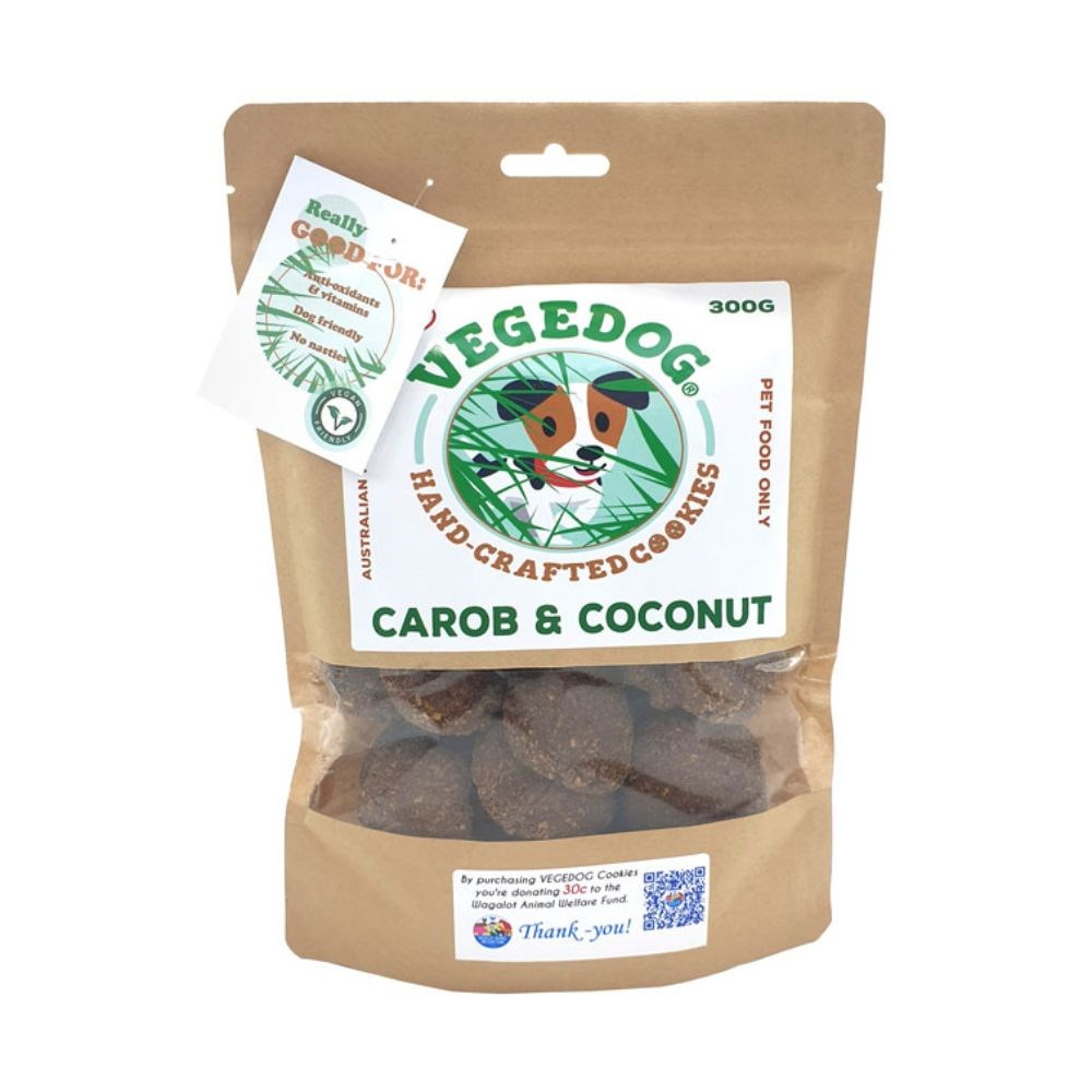 Wagalot Vegedog Carob & Coconut Cookies Dog Treat 300g