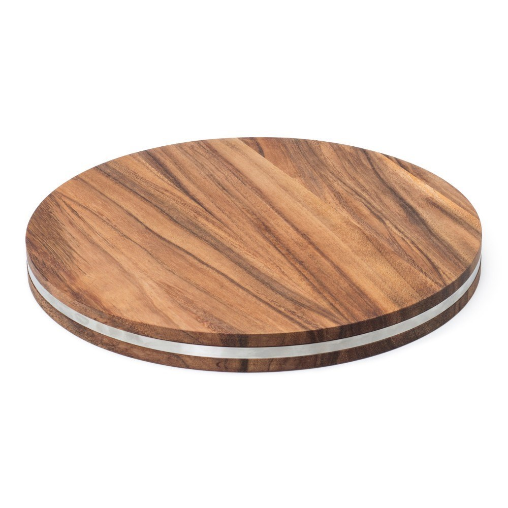 Wild Wood Stockton Serving Board with Stainless Steel Band 40cm