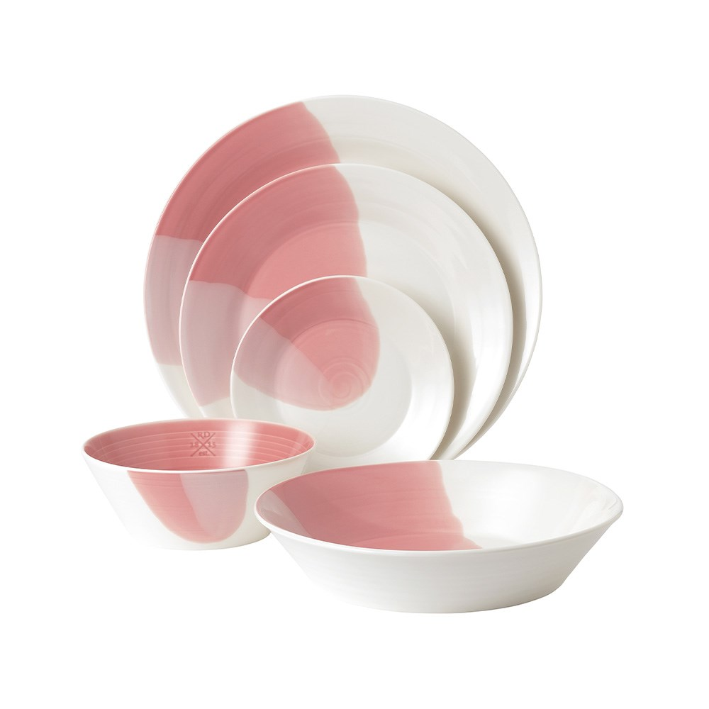 Royal Doulton 1815 Signature 5 Piece Dinner Set Coral Pink