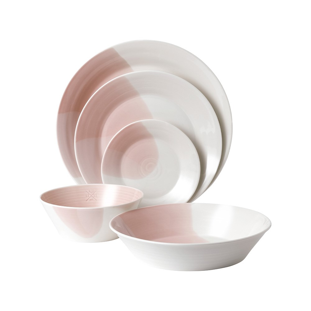 Royal Doulton 1815 Signature 5 Piece Dinner Set Blush Pink