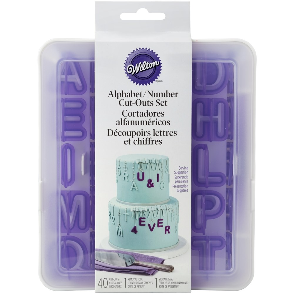 Wilton 42pc Alphabet And Number Cutouts