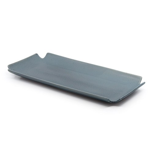 Salt & Pepper Ikana Pottery Platter 33 x 16cm Iron Grey