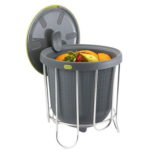 Polder Silicone Kitchen Composter 3.8L Grey