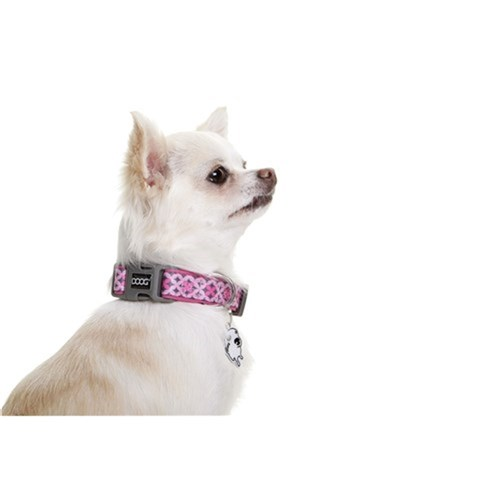 Doog Toto Collar Pink & Black Medium