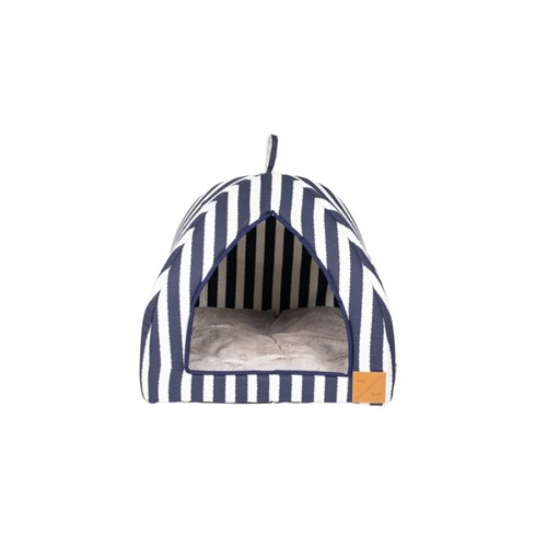 Mog & Bone Cat Igloo Navy Hamptons Stripe