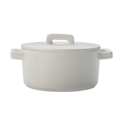 Maxwell & Williams Epicurious Round Casserole 500ml White Gift Boxed