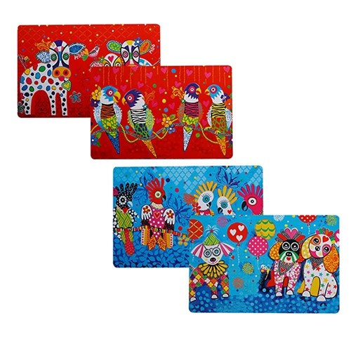 Maxwell & Williams Donna Sharam Love Hearts Reversible Placemats Set of 6