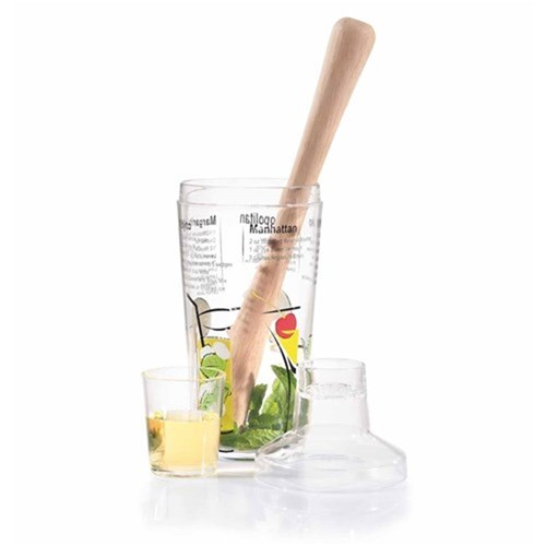 Cellar 2 Piece Cocktail Set including Shaker and Muddler